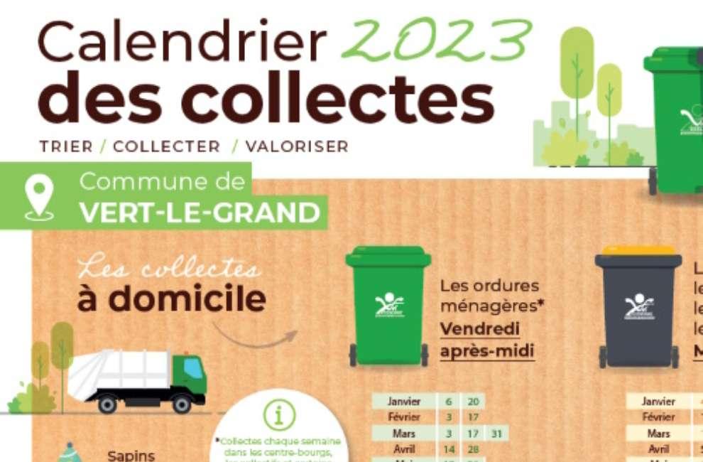 Calendrier Collecte Déchets 2021 Calendrier de collecte juillet décembre 2020 et janvier août 2021